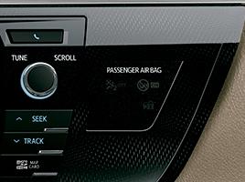 Desactivación manual de airbag frontal para acompañante.